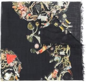 Alexander McQueen multi-object print scarf