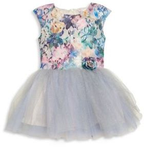 Little Girl's Winter Sunset Fit-&-Flare Dress $122 thestylecure.com