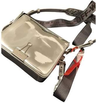 Off-White Off White Binder Silver Leather Handbag