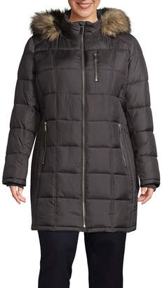 Liz Claiborne Woven Water Resistant Heavyweight Puffer Jacket-Plus