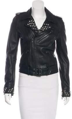 Linea Pelle Studded Leather Moto Jacket