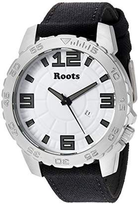 Roots Men's 'Core' Quartz Stainless Steel and Canvas Casual Watch