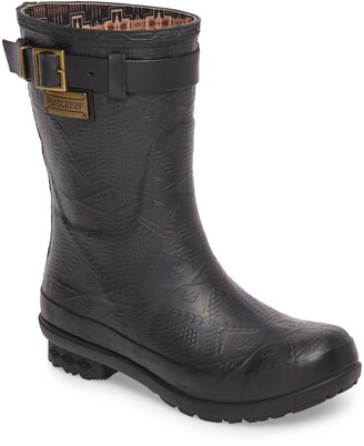 Pendleton Embossed Short Waterproof Rain Boot