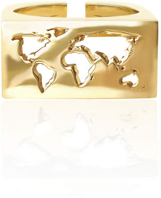 Cristina Ramella World Inspired Jewelry Gold Plated Map Ring