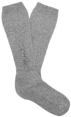 Barrie - Cashmere Socks - Womens - Grey