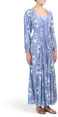 Paisley Maxi Dress Cover-up