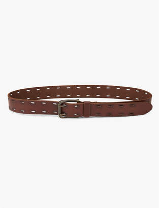 Lucky Brand Perforated Border Belt