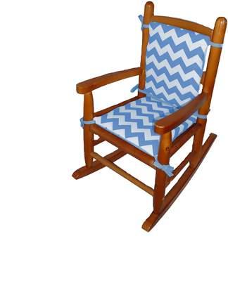 Babydoll Baby Doll Chevron Junior Rocking Chair Pad