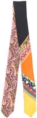 Etro patchwork neck-tie scarf
