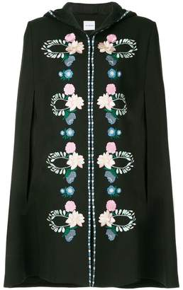 Vilshenko embroidered floral cape