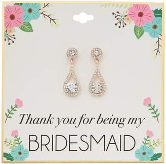 Simlated Crystal Bridesmaid Teardrop Nickel Free Earrings