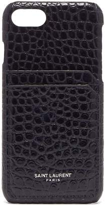 Saint Laurent Crocodile-effect leather iPhone® 8 case