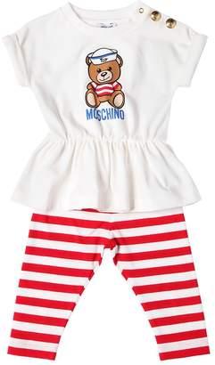 Moschino Printed Cotton Jersey T-Shirt & Leggings