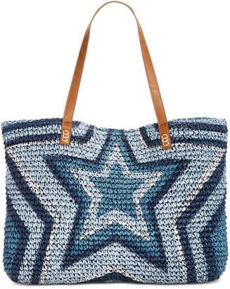 INC International Concepts I.N.C. Marthaa Star Straw Tote, Created for Macy's