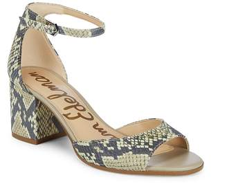 Sam Edelman Women's Susie Leather Block Heels