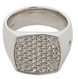 Women's Tom Wood White Topaz Cushion Pinkie Ring $550 thestylecure.com