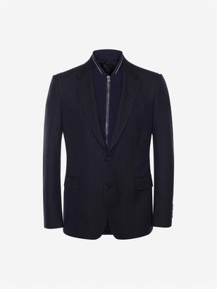 Alexander McQueen Pinstripe Bib Jacket