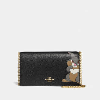 Coach Disney X Callie Foldover Chain Clutch With Thumper