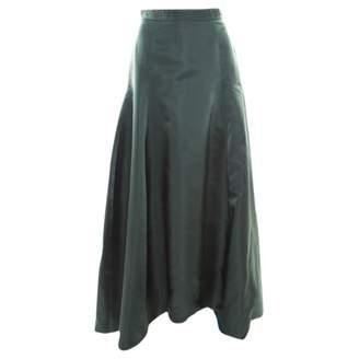 Christian Dior Green Silk Skirts