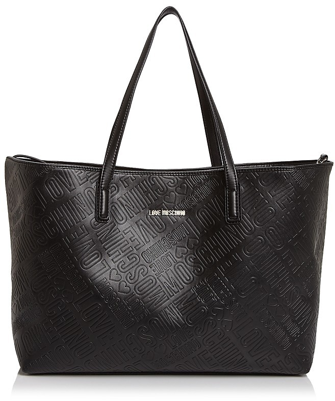 Love MoschinoLove Moschino Embossed Logo Leather Tote