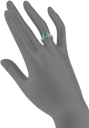 Charles Krypell Ivy Sterling Silver, 14K Yellow Gold & Topaz Cocktail Ring
