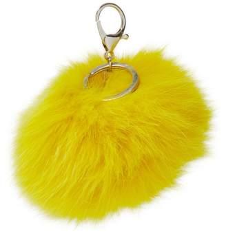 Adrienne Landau Women's Fox Pom Pom Keychain