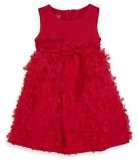 Toddler's & Little Girl's Rose Appliqué A-Line Dress