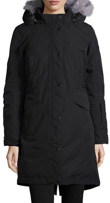 The North Face Snap-Front Hooded Faux-Fur-Trim Parka Jacket $420 thestylecure.com