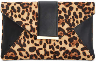 INC International Concepts Inc Luci Leopard Print Clutch