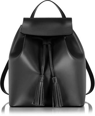 Le Parmentier Black Leather Backpack