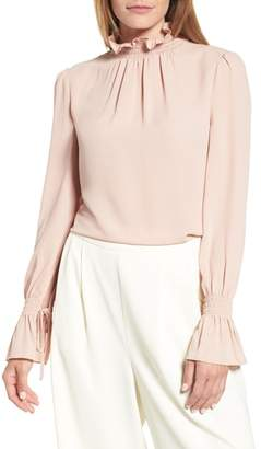 Vince Camuto Smocked Neck Blouse