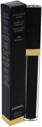 Chanel 0.19Oz #768 Decadent Rouge Coco Gloss Moisturizing Glossimer