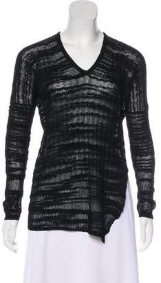 Helmut Lang V-Neck Long Sleeve Sweater
