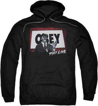 Obey 2Bhip They Live Science Fiction Horror Satire Movie Adult Pull-Over Hoodie