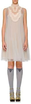Prada Women's Plissé Chiffon A-Line Dress