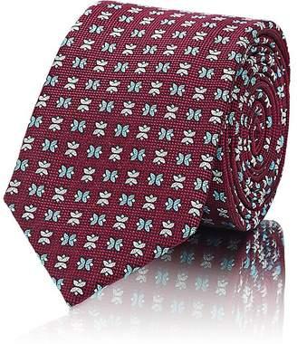 Barneys New York Men's Geometric-Pattern Silk Necktie