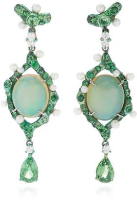 Arunashi One-Of-A-Kind Opal Drop Earrings