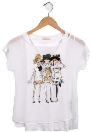 Monnalisa Girls' Chiffon Dress Set