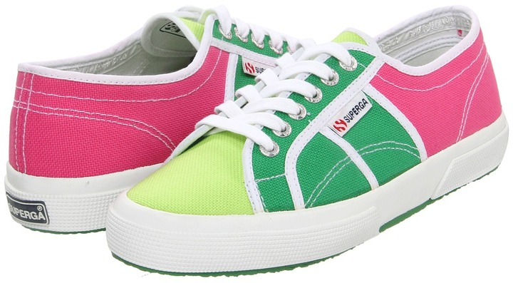 Superga - 2750 COTU Patch (Multicolor Fuxia/Green) - Footwear