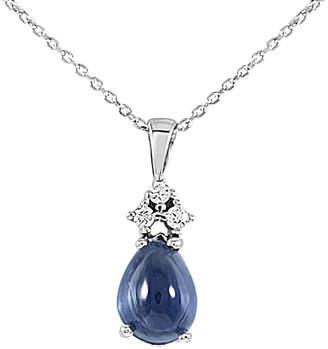 Sabrina Designs 14K 4.23 Ct. Tw. Diamond & London Blue Topaz Necklace