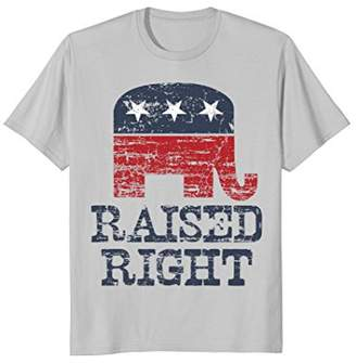 Raised Right - Republican Elephant T-shirt