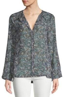 Christy Printed Hi-Lo Blouse