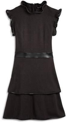 Miss Behave Girls' Carol Ruffle-Trim Dress - Big Kid
