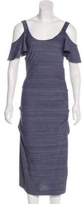 Nicole Miller Cold Shoulder Midi Dress