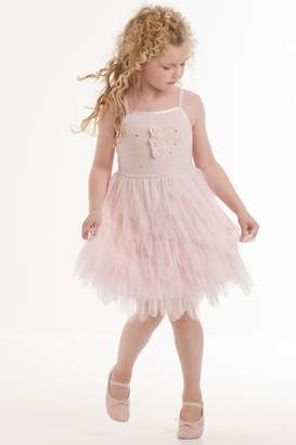Biscotti Tulle Petals Dress