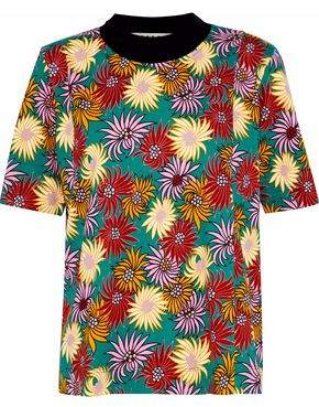 Marni Floral-Print Cotton-Jersey T-Shirt
