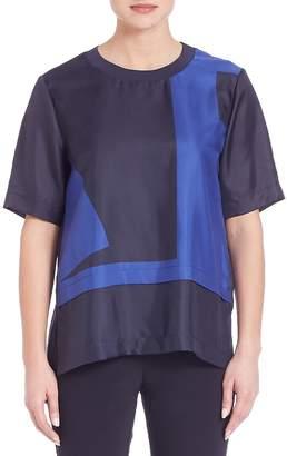 DKNY Women's Silk Drop Shoulder Tee
