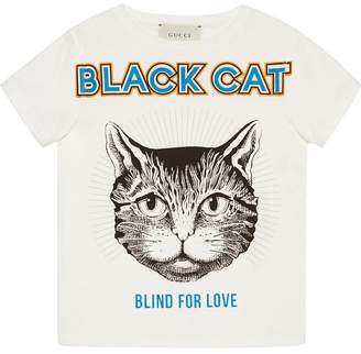 Gucci Kids Children's T-shirt with Black Cat print