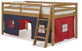 LOFT Alaterre Roxy Junior Bed with Blue and Red Tent, Cinnamon