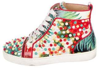 Christian Louboutin Studded High-Top Sneakers